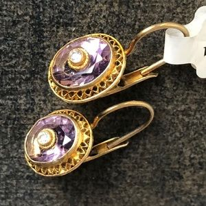 Darling Vermeil Earrings Purple and Gold